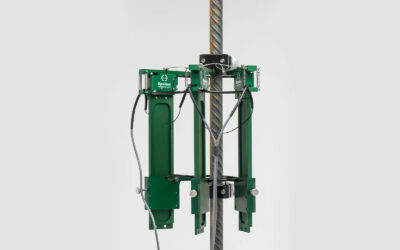 Rebar Coupler / Rebar Splice Extensometer Provides Repeatable Elongation Measurement