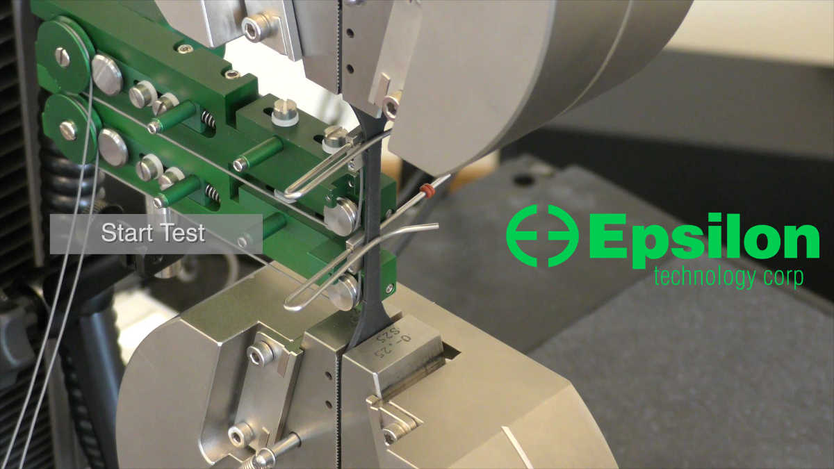 extensometer for rubber tension testing to ASTM D412