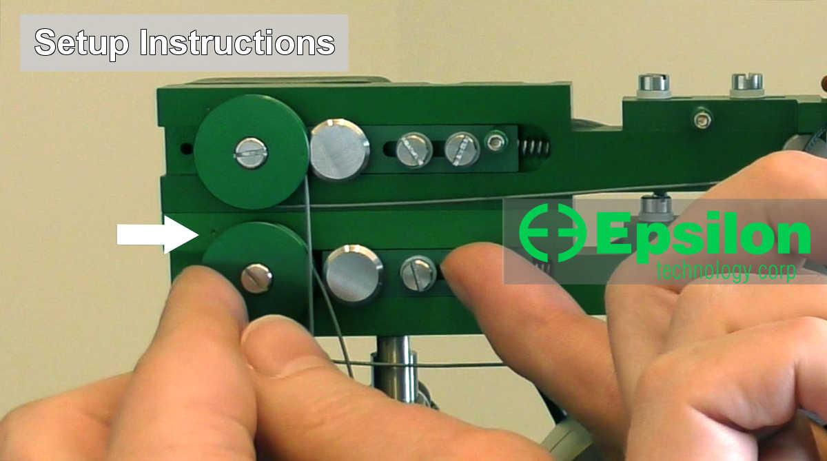 elastomer tension testing extensometer Model 3800 setup video