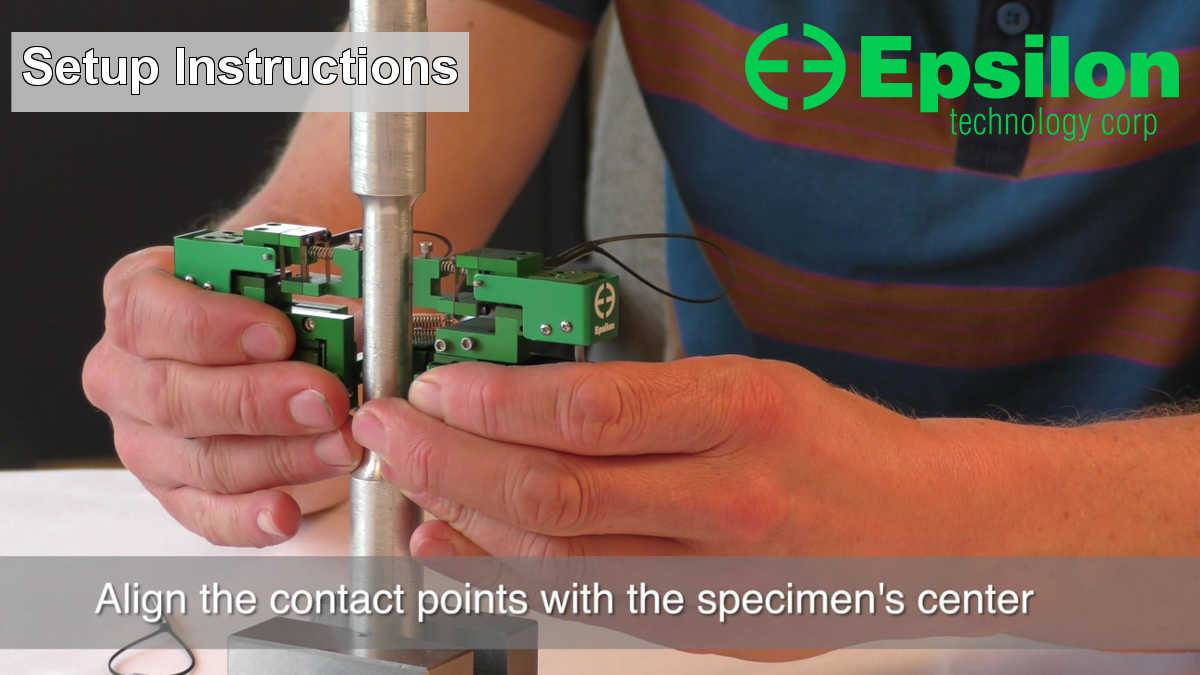 axial torsional extensometer setup instructions