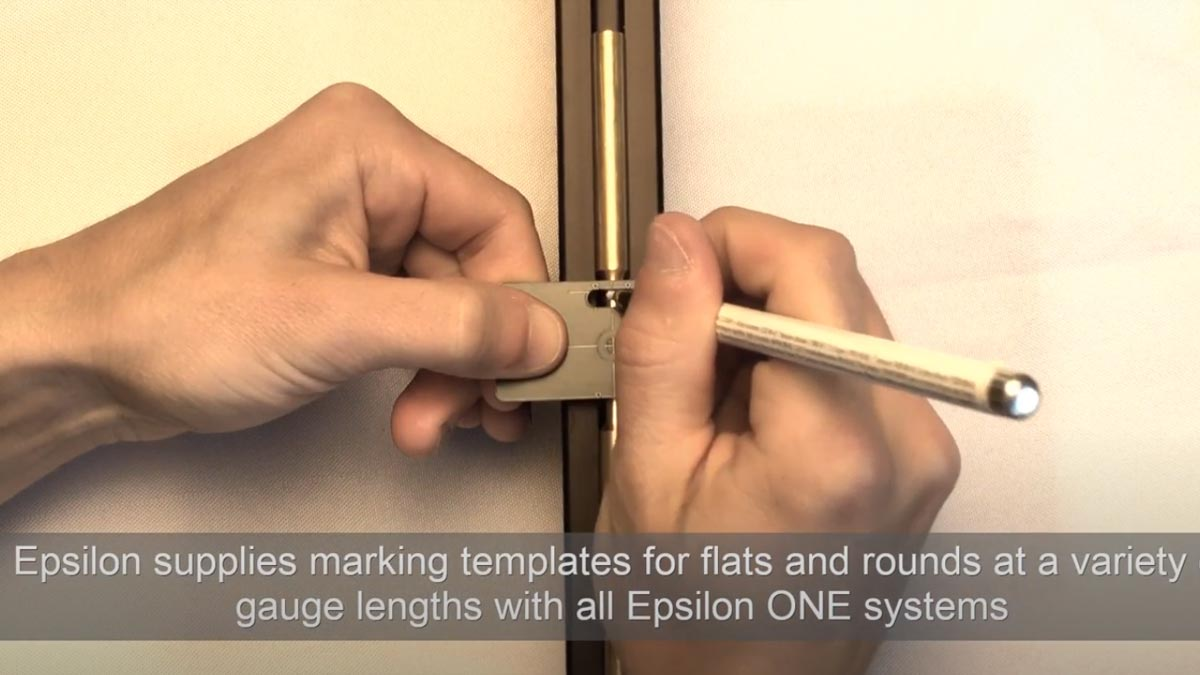 Marking Specimens for Testing with Epsilon ONE